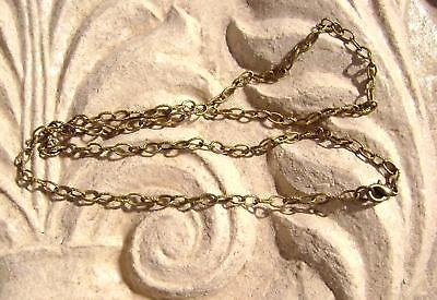 Antiqued Brass Steel Stamped Rolo Chain Necklace, 5 Qty Handmade Made in USA