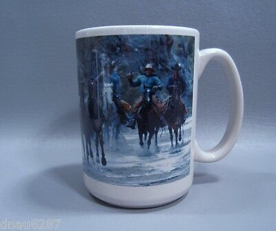 Cowboys and Horses Large Coffee Mug