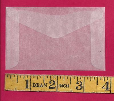 "100 NEW #2 Glassine Envelopes 2 5/16"" x 3 5/8"""