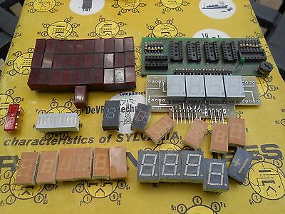 Incredible Lot of Seven Segment LED Display IC's FND5041 FND5037 LOOK!