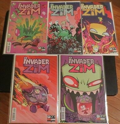 Invader Zim 6 7 8 9 10 comic book set by Jhonen Vasquez Johnny Homicidal Maniac