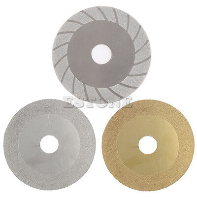 "100mm 4"" Diamond Coated Cutting Disc Flat Wheel Blade Grinding Glass Stone Tiles"