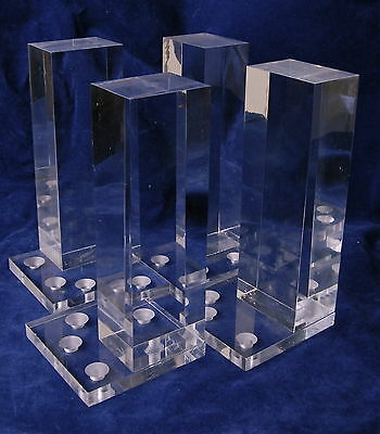 Acrylic Lucite Legs Furniture Set Four 6 inch Mid Century Hollywood Regeny