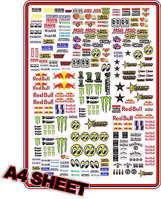 Slot Car Decal Set Small Sticker Race Logos Scalextric Plafit 1/24 1/32 1/43
