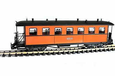 Zenner RüKB Passenger car no. 53, Arched roof, brown, G Scale