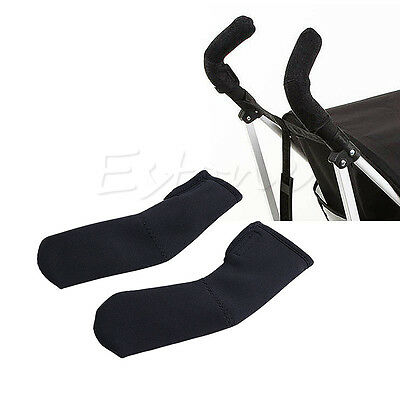 2x Baby Stroller/Pram/Buggy/Pushchair Soft Handle Bumble Bar Grip Cover