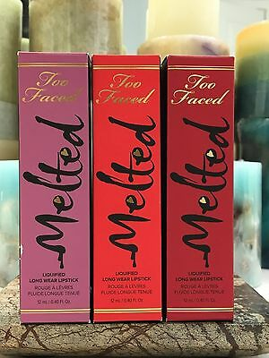 Too Faced  Melted Liquified Long Wear Lipstick  (You Pick) NIB 12 ml / 0.4 oz