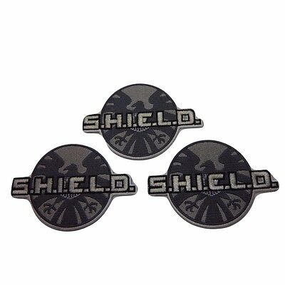 Marvel Comics Agents of S.H.I.E.L.D. Logo Embroidered Patch Set of 3