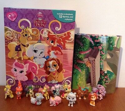NEW Disney Princess Palace Pets My Busy Book + 12 Character Figurines & Playmat