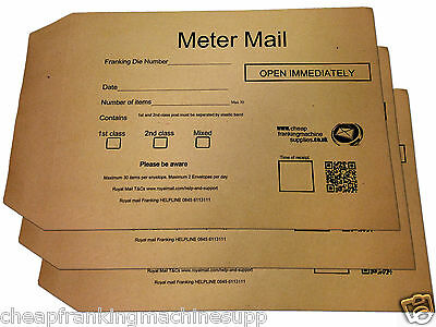 Meter Mail Envelopes Pack 325mm x 230mm Franking Late