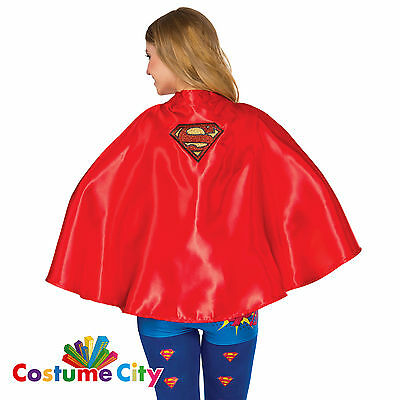 Adults Womens Official DC Comics Supergirl Cape Fancy Dress Costume Accessory