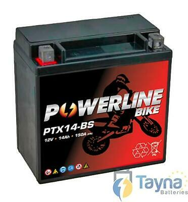 Powerline Motorcycle YTX14-BS Batterie Moto for Hyosung GT125 GT 125 Comet