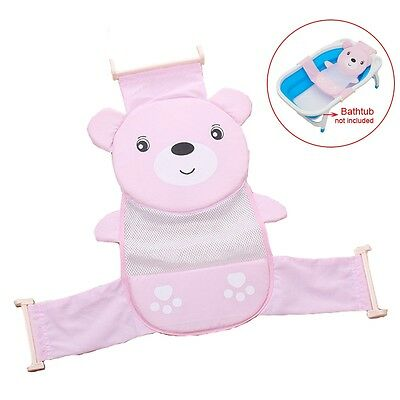 Baby Bath Seat Net Support Sling Shower Mesh Bathing Cradle Hammock  Pink Tool