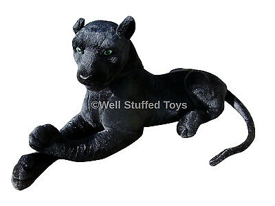 140cm Large Black Panther Soft Toy Plush Deluxe Paws ®