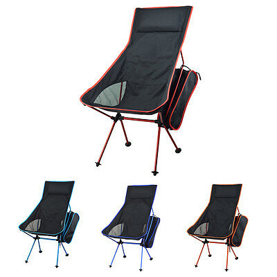 Portable Seat Stool Beach Folding Chair Fishing Camping Hiking+Storage Pouch Bag