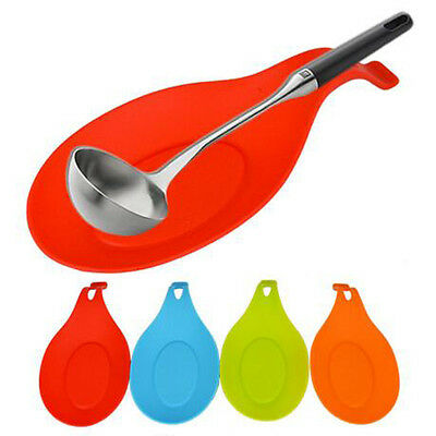 1 Pc Silicone New 5 Colors Resistant Spatula Holder Spoon Rest Cooking Tools
