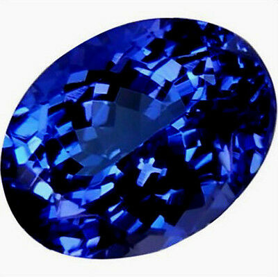 14.78ct Top Blue Tanzanite 13X18mm Oval Shape AAAA+ Loose Gem Non-Natural