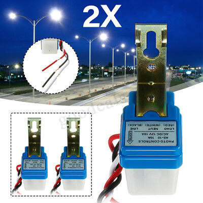 2 x 12V 10A Auto On Off Switch Control Street Light Photocell Photoswitch Sensor