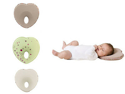 Anti Roll Prevent Baby Neck Newborn Infant Support Flat Head Memory Foam Pillow