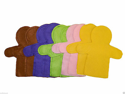 Felt hand puppets (10) assorted colours    Decorate  Art and Crafts Children