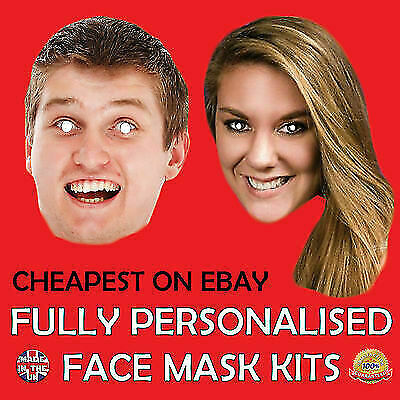Personalised Photo Face Masks Masks for Hen/Stag/Birthday Parties Fun