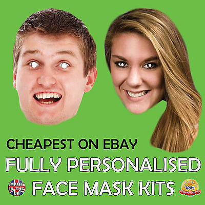PERSONALISED CUSTOM FACE MASKS SEND A PICTURE VIA THE LISTING DESCRIPTION New