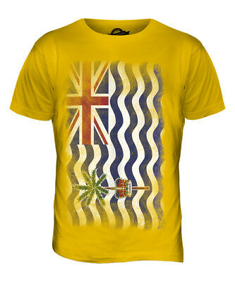 British Indian Ocean Territory Faded Flag Mens T-Shirt Tee Top Gift Shirt