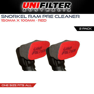 2 X UNIFILTER Safari Snorkel Ram Head (150Wx100H) Cover Pre Cleaner/Filter