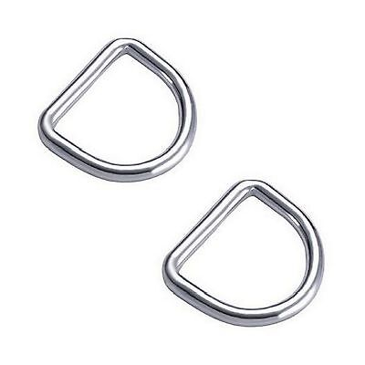 6MM x 35MM STAINLESS STEEL 316 D RING MARINE DECK SHADE SAIL BOAT - 2 FOR $3.50