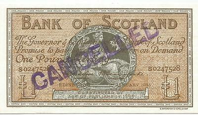 Ecosse Scoltand   1 Pound 1945 Annule Pick 96   Unc  Neuf