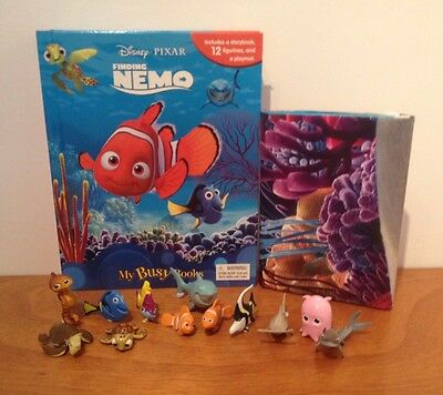 Disney Pixar Finding Nemo My Busy Book + 12 Character Figurines & Playmat