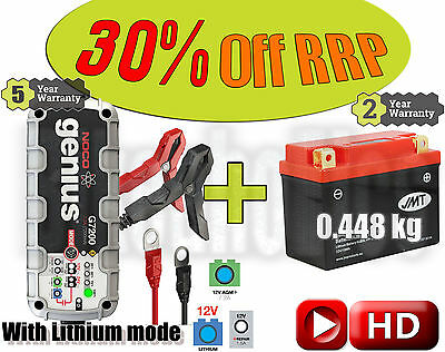 LITHIUM Deal - Battery + 7.2A charger - Aprilia RS 250  - 2000