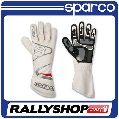 Sparco Arrow KG-7 K-7 Gloves, size 10 M FREE DELIVERY white Rally, Race, Kart