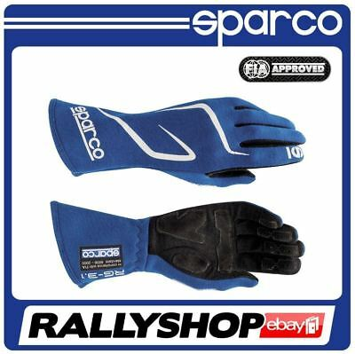 FIA Sparco Land RG-3.1 Gloves size 10 Blue Rally Race Kart NOMEX Sport Tuning