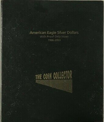 American Silver Eagle Dollars Coin Collection Album US 1986 2003 + Proof Free SH