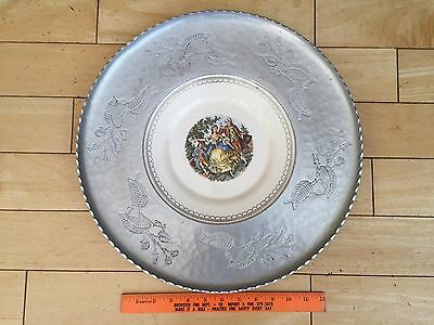 Vintage Limoges White Gold Chantilly Imperial Triumph Wrought Farberware Plate