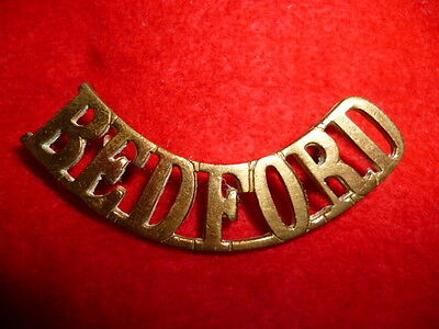 The Bedfordshire Regiment Brass Shoulder Title, WW1