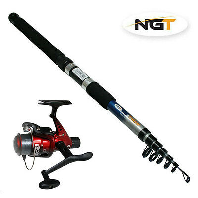 New Ngt Telescopic Trekker 6Ft Fishing Rod & Reel Pre Loaded With Line Ngt