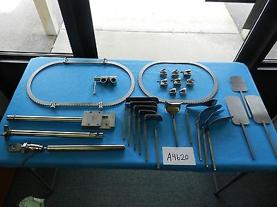 Codman Surgical Table Mounted Bookwalter Retractor Set W/Case