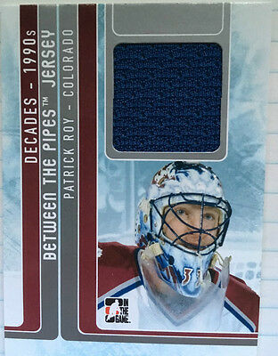 ITG 2012-13 Between the Pipes Decades-1990's Patrick Roy Jersey Card # BTPJ-10