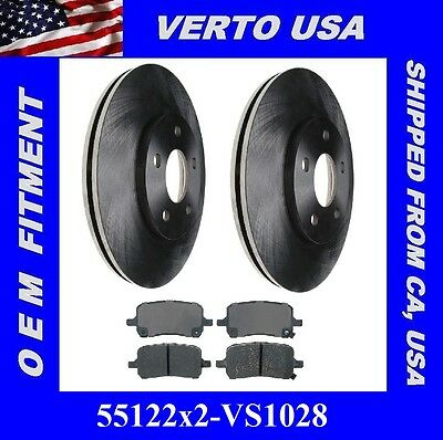 Ford Crown Victoria Verto USA Set of 2 Front Brake Rotor Lincoln Town Car