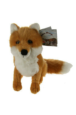 "Stuffed Animal House Red Fox 7"" Northern Wildlife Sitting Realistic Plush NWT"