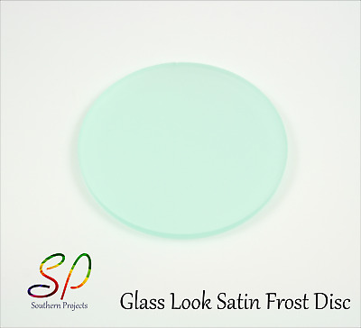 FROSTED PERSPEX DISCS ACRYLIC ROUND CIRCLE 3mm Glacier Green S2 6T21 100mm-900mm