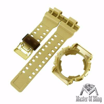 Yellow G-Shock Watch Bezel Strap Authentic Part Silicone GA110 GA200 GD200 Band