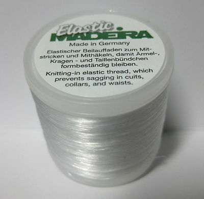 Madeira Elastic Invisible Knitting-in Yarn  220 yd for  Cuffs, Collars, Waists