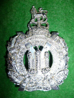 The King's Own Scottish Borderers QC Staybrite Cap Badge