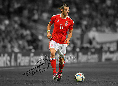 Gareth Bale Signed Print Poster Photo Wales Football Euro 2016 Picture Wall Art