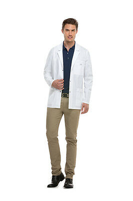 "Dickies Men's Snap Front Lab Coat 31"" in White Style 81403 FREE SHIPPING!"