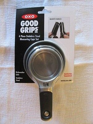 Oxo Good Grips Measuring Cups Stainless Steel Magnetic 4 Piece