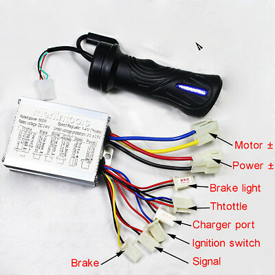 24V 500W Motor Brush Speed Controller & Electric Bike Scooter Grip